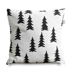 Black and White Screen Printed pillow case. So cute for anytime at home and even Christmas.