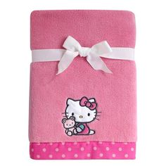 15783eeb7 product image for Hello Kitty® Cute as a Button Coral Fleece Blanket Hello  Kitty Clothes