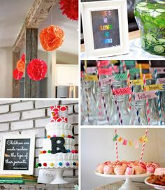 Colorful Book Themed Baby Shower via Kara's Party Ideas #BabyShower #planning #idea #cake #girl #boy #decorations