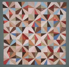 Controlled color, improv piecing from Gone Aussie Quilting