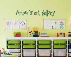 Personalized art gallery wall decal  kids by VinylWallQuotes