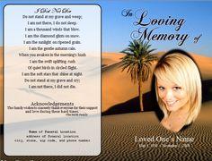 Funeral Memorial Bulletin  Printable Funeral Notice Printable