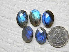 5 Pieces Lot 18x13 mm Mix Blue Labradorite Loose Gemstone