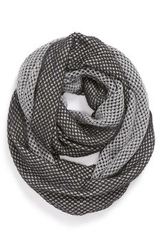 Black & Silver Infinity Scarf.