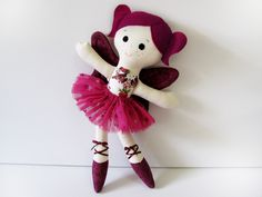 Sugar Plum Fairy Ballerina Cloth Doll INSTANT DOWNLOAD