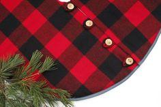 Christmas Tree Skirt Pendleton Buffalo Check by LittleOrangeRoom