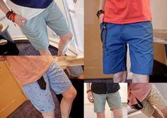 Slim Fit Berms (Solid/ Polka) Two for $40! #menstyle #shoponline #Singapore #blogshop #colors