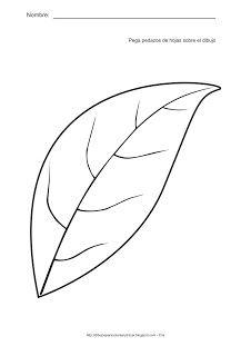 Actividades para estimulación temprana. Pega pedazos de hojas sobre el dibujo. Ayuda a tu niño a identificar, asociar y relacionar la hoja con el color verde