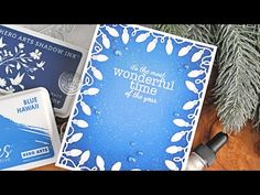 (1186) Easy Mass-Producible Holiday Card with Die-Cut Border - YouTube Hero Arts Cards, Christmas Inspiration, Art Blog, Christmas Lights, Holiday Cards, Fancy, Change, Holidays, Colour