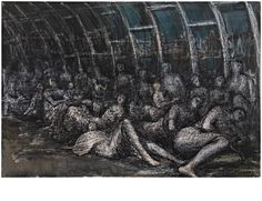 'Shelters In The Tube' Henry Moore, 1941