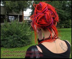 Full kit of CUSTOM long smooth synthetic dreads / by FilthyStuff, zł580.00 #synthetic #dreads #dreadlocks