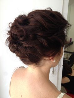 Soft loose messy upstyle for brides
