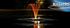 AquaMaster® Fountains - Masters Series   Medinah  Tall multi-streamed arch pattern. Straightened Flow Pattern   #landscape #water #fountains #pond #beauty #architecture