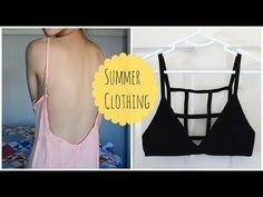 ✂ DIY: Caged Bralette & Low Back Dress - YouTube