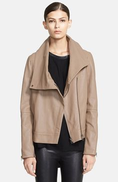 Helmut Lang 'Petal' Leather Jacket available at #Nordstrom