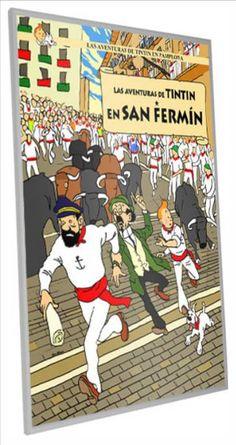 Las aventuras de Tintin en San Fermin