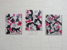 Acrylmalerei -  Acrylbilder auf Malpappe Trio Magenta - ein Designerstück von SoMa-Art bei DaWanda