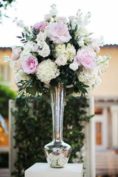 Elegant and tall wedding aisle decor ideas. @weddingchicks