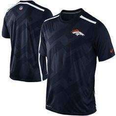Nike Denver Broncos Dri-FIT Hypervent Performance T-Shirt - Navy Blue