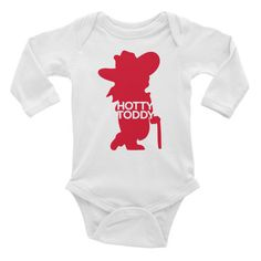 Hotty toddy ole miss graphic onesie long sleeve bodysuit inkedapparelco.com