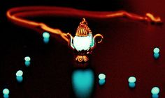 TEAPOT silver pendant GLOW in the DARK by Papillon9 on Etsy, $25.95
