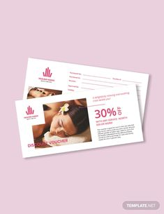 Beauty Spa Voucher Help your clients feel even more at ease by treating them to a great discou Beauty Spa, Diy Beauty, Gift Voucher Design, Spa Branding, Microsoft Publisher, Restaurant Offers, Spa Gifts, Banner, Ideas