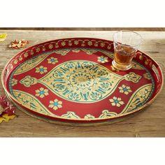 W6611Rajasthani Tray Tableware