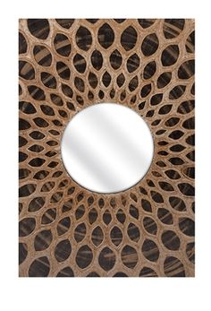 Add flair to any home with this hand laid and painted banana leaf wall mirror. The tonal variations in the painted leaves give a dimensional wood like quality, while the hand woven design adds textural interest.  45% Banana Leaves; 20% MDF; 15% Glass; 10% Fabric; 10% Cardboard