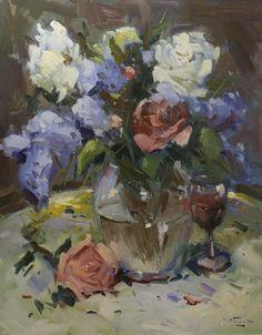"Daily Paintworks - ""Peach Rose"" - Original Fine Art for Sale - © Linda Hunt Art Floral, Paintings I Love, Floral Paintings, Acrylic Paintings, Peach Trees, Rose Art, Flower Art, Art Flowers, Fine Art Gallery"
