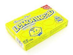Lemonhead candy.
