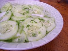 Cool Cucumber Salad - very easy and great for summer (I don't like raw onions so I omitted the onion and it was great) - LRM