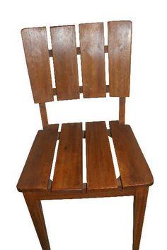 Cadeira Karina em Madeira de Demolição - Cód 2064 - Bancos e Banquetas - Madeira de Demolição - Barrocarte