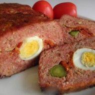 Fotografie receptu: Plněná krůtí sekaná Meatloaf, Tasty, Food, Straws, Meat Loaf, Meals