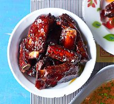 Juicy spare ribs braised with a chilli and hoisin sauce that make a succulent side dish to any Chinese feast