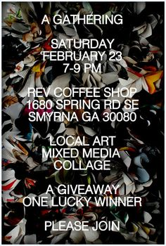 my mixed media collage, need local support! #art #collage #free_art #giveaway #atlanta