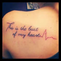 I really liked this tatoo :O Panic! at the disco, This is Gospel<<Regardless, I still like the placement of this. I can't decide about song lyrics permanently etched into my body. Relevance issue?