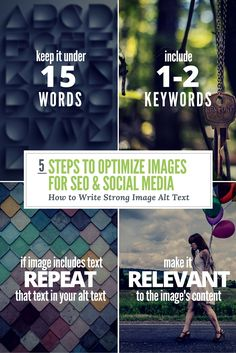 We all know standing out with visual content is critical to marketing but you may be overlooking simple steps to optimize images that could improve your SEO Web Business, Business Tips, Search Engine Optimization, Social Platform, Social Media Tips, Diy Design, Seo, Improve Yourself, Blogging