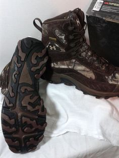 Under Armour Speed Freek Timber Mossy Oak Infinity Boots 1227564 242 Size 11 Men #UnderArmour #HikingTrail #SpeedFreek #Gore-tex #MossyOak