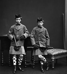 Prince Eddy and his brother Prince George (later King George V). Sons of King Edward VII of Great Britain.