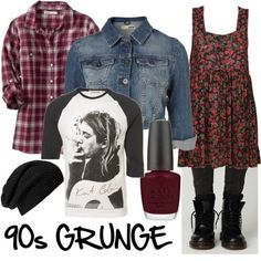 90s grunge style