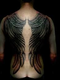 male neck back wing tattoos - Google Search