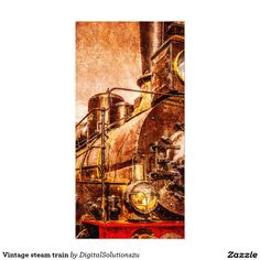 Vintage steam train card