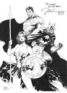 Wonder Woman, Superman & Batman (2004) by Jim Lee