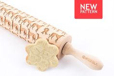 Engraved rolling pin with Greyhound pattern #rollingpin #greyhound #stodola