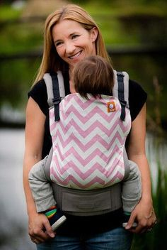 Pink Zig Zag on Gray Tula - Tula in the Know