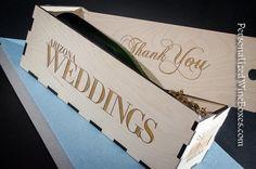 Impressive Thank You wine gift box - displayable