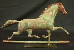 Antique Horse Weathervanes | ethan allen running horse weathervane a late 19th century weathervane ...
