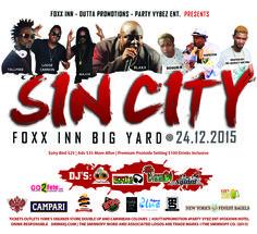 Partygrenada.com: Outta Promotions 'SINCITY' Christmas Eve @ The Fox Inn Big Yard Dec 24th, 2015