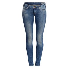 Hit Dark Jade Jeans - JEANS - UNDERDELAR - KATEGORIER - SHOPPA TJEJ -... ❤ liked on Polyvore featuring jeans, pants, skinny jeans, skinny leg jeans, dark blue jeans, skinny fit jeans and dark jeans