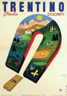 Italian Poster by Mario Puppo .
